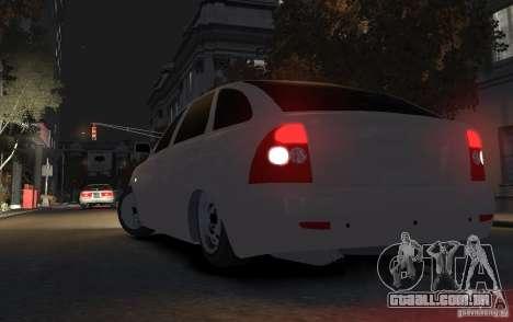 VAZ Lada Priora 2172 para GTA 4 traseira esquerda vista
