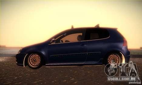 Volkswagen Golf Mk5 GTi para GTA San Andreas esquerda vista