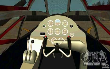 P38 Lightning para GTA San Andreas vista traseira