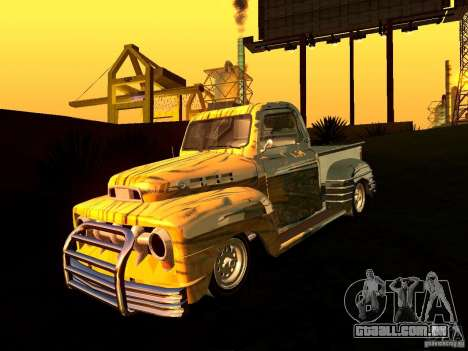 Ford Pick Up Custom 1951 LowRider para GTA San Andreas vista direita