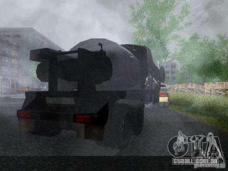 Reboque blindado combustível Mack Truck Titan para GTA San Andreas vista direita