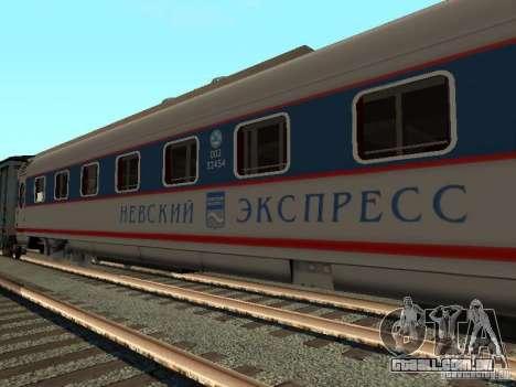 Nevsky express para GTA San Andreas esquerda vista
