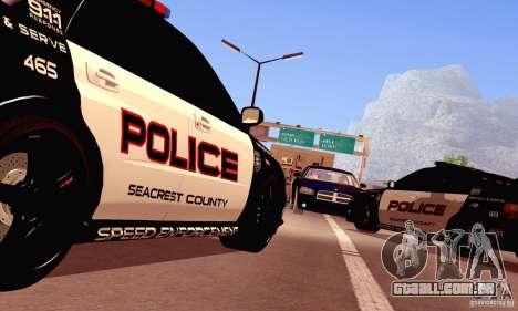 Dodge Charger Fast Five para GTA San Andreas vista traseira