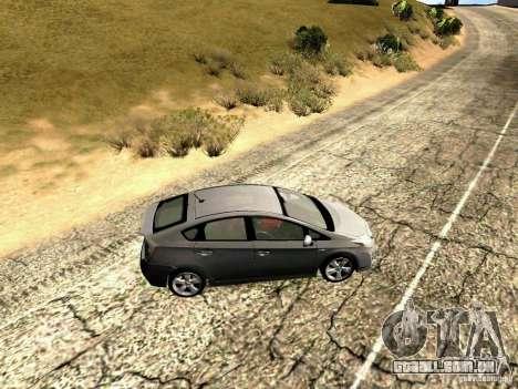 Toyota Prius Hybrid 2011 para GTA San Andreas esquerda vista