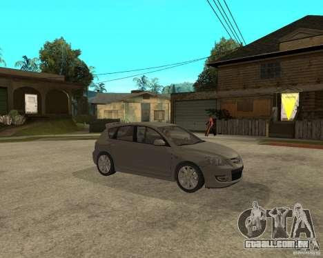 Mazda 3 Sport 2003 para GTA San Andreas vista direita