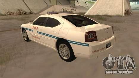 Dodge Charger PNP SAN FIERRO para GTA San Andreas vista direita