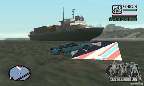 O trampolim para GTA San Andreas segunda tela