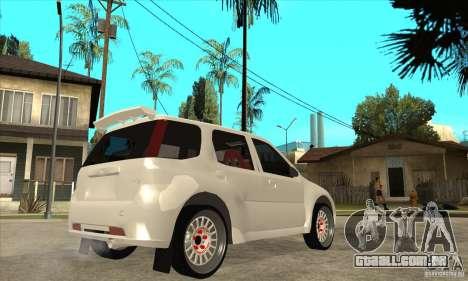 Suzuki Ignis Rally para GTA San Andreas vista direita