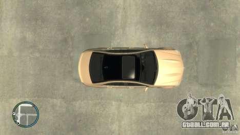 Mercedes-Benz C63 para GTA 4 traseira esquerda vista
