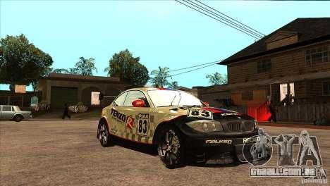 BMW 135i Coupe GP Edition Skin 1 para GTA San Andreas vista traseira