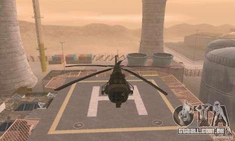 MI-17 para GTA San Andreas vista traseira