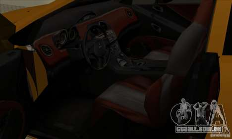Mitsubishi Eclipse GT para GTA San Andreas vista traseira