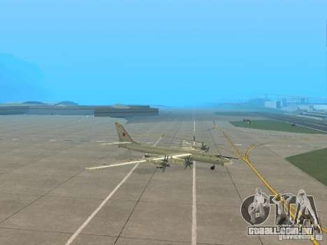 Tu-95 para GTA San Andreas esquerda vista