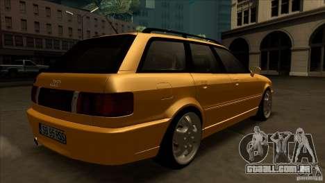 Audi RS2 Avant 1995 para GTA San Andreas vista direita