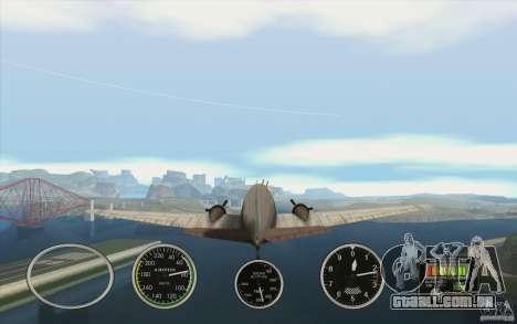 Instrumentos de ar em um avião para GTA San Andreas segunda tela