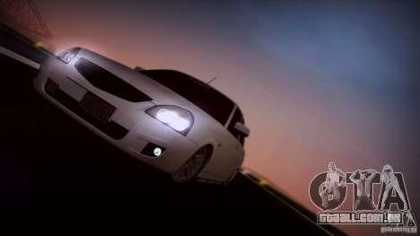 LADA 2170 Califórnia para GTA San Andreas vista traseira