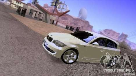 BMW 120i 2009 para GTA San Andreas vista interior