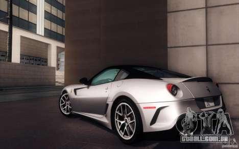 Ferrari 599 GTO 2011 para GTA San Andreas esquerda vista
