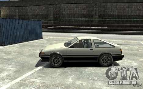 Toyota Sprinter Trueno AE86 para GTA 4 esquerda vista