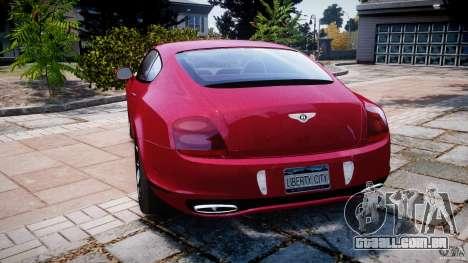 Bentley Continental SS v2.1 para GTA 4 traseira esquerda vista