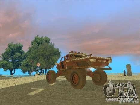 Jeep from Red Faction Guerrilla para GTA San Andreas esquerda vista