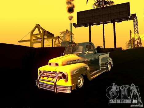 Ford Pick Up Custom 1951 LowRider para GTA San Andreas vista traseira