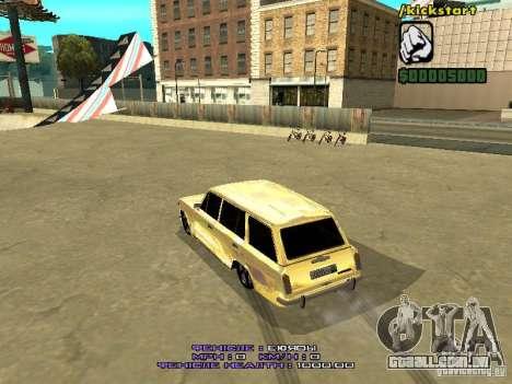 VAZ 2102 ouro para GTA San Andreas vista direita