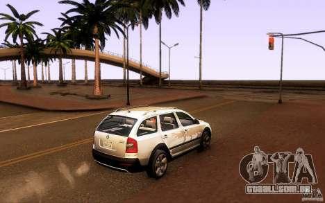 Skoda Octavia Scout para GTA San Andreas esquerda vista