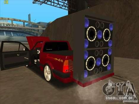 Volkswagen Saveiro Summer para GTA San Andreas vista direita