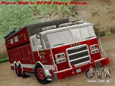 Pierce Walk-in SFFD Heavy Rescue para GTA San Andreas