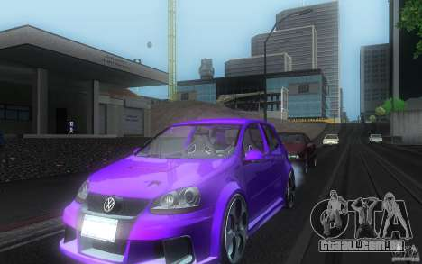 VolksWagen Golf GTI W12 TT Black Revel para GTA San Andreas vista interior