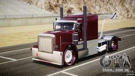 Peterbilt Sport Truck Custom para GTA 4 vista de volta