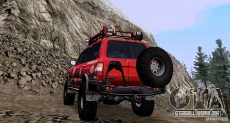 Toyota Land Cruiser 100 Off-Road para GTA San Andreas traseira esquerda vista