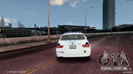 NYPD BMW 350i para GTA 4 vista direita