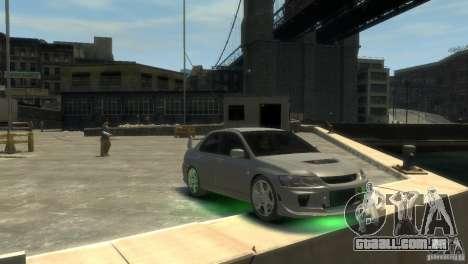 Mitsubishi Lancer EVOLUTION VIII para GTA 4 vista direita