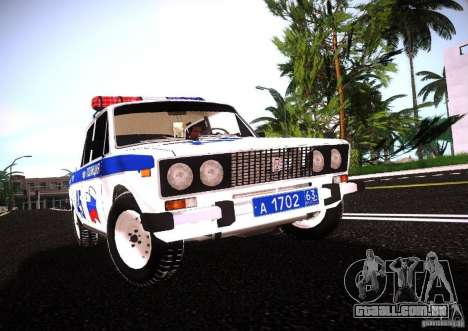 VAZ 2106 polícia v 2.0 para GTA San Andreas