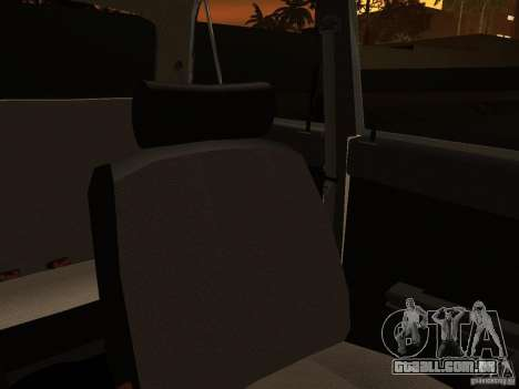 VAZ 2106 polícia v 2.0 para GTA San Andreas vista inferior