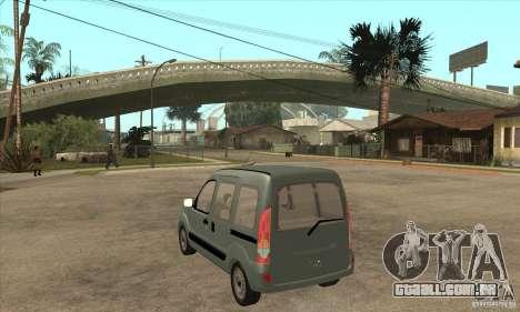 Renault Kangoo 2005 para GTA San Andreas traseira esquerda vista