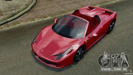 Ferrari 458 Spider 2013 v1.01 para GTA 4 vista inferior