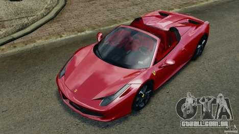Ferrari 458 Spider 2013 v1.01 para GTA 4 vista inferior