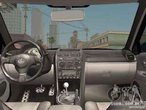 Lexus IS300 HellaFlush para GTA San Andreas vista inferior