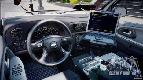 Chevrolet Trailblazer Police V1.5PD [ELS] para GTA 4 vista direita