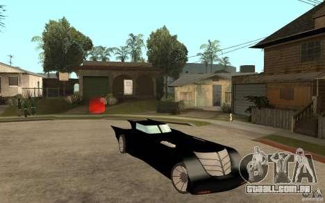 Batmobile Tas v 1.5 para GTA San Andreas vista traseira