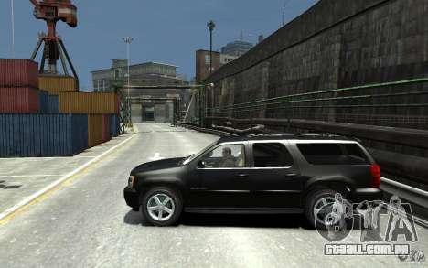 Chevrolet Suburban 2008 (beta) para GTA 4 esquerda vista