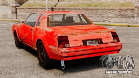 Pássaro de fogo para GTA 4 traseira esquerda vista