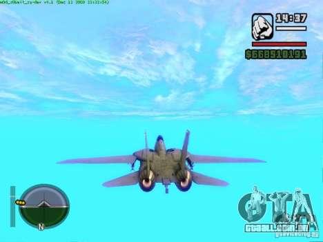 F 14 A TOMCAT para GTA San Andreas traseira esquerda vista