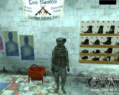 Soldado de infantaria pele CoD MW 2 para GTA San Andreas segunda tela