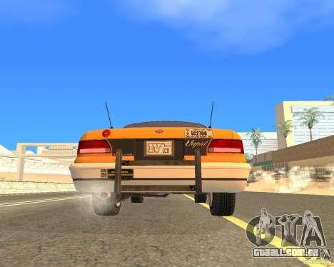 Taxi from GTAIV para GTA San Andreas vista direita