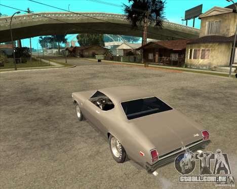 1969 Chevrolet Chevelle para GTA San Andreas esquerda vista