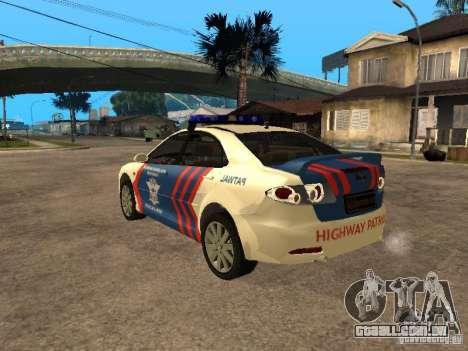 Mazda 6 Police Indonesia para GTA San Andreas esquerda vista